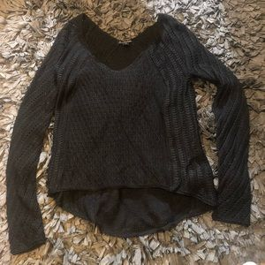5/$20 American Eagle size xs black sparkly sweater